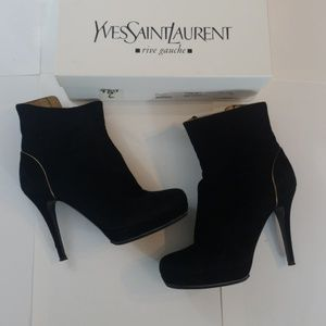 YSL Tribute 90 Bootie Size 6 in Black